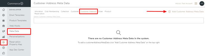 address meta data