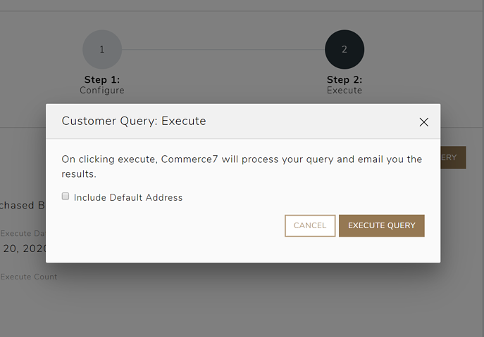 default address customer